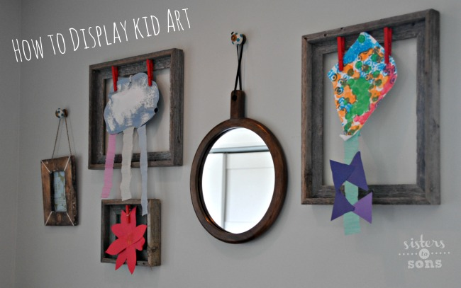 How to display kid art