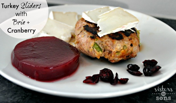 turkey sliders with brie and cranberry