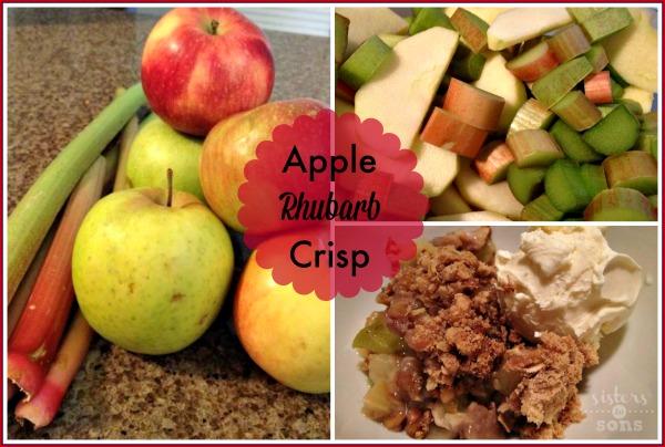 Apple Rhubarb Crisp {Summer Foodie Series}