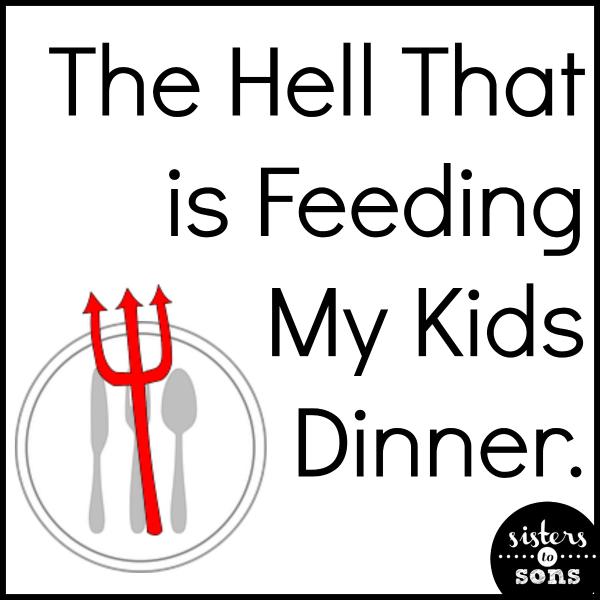 feeding kids dinner