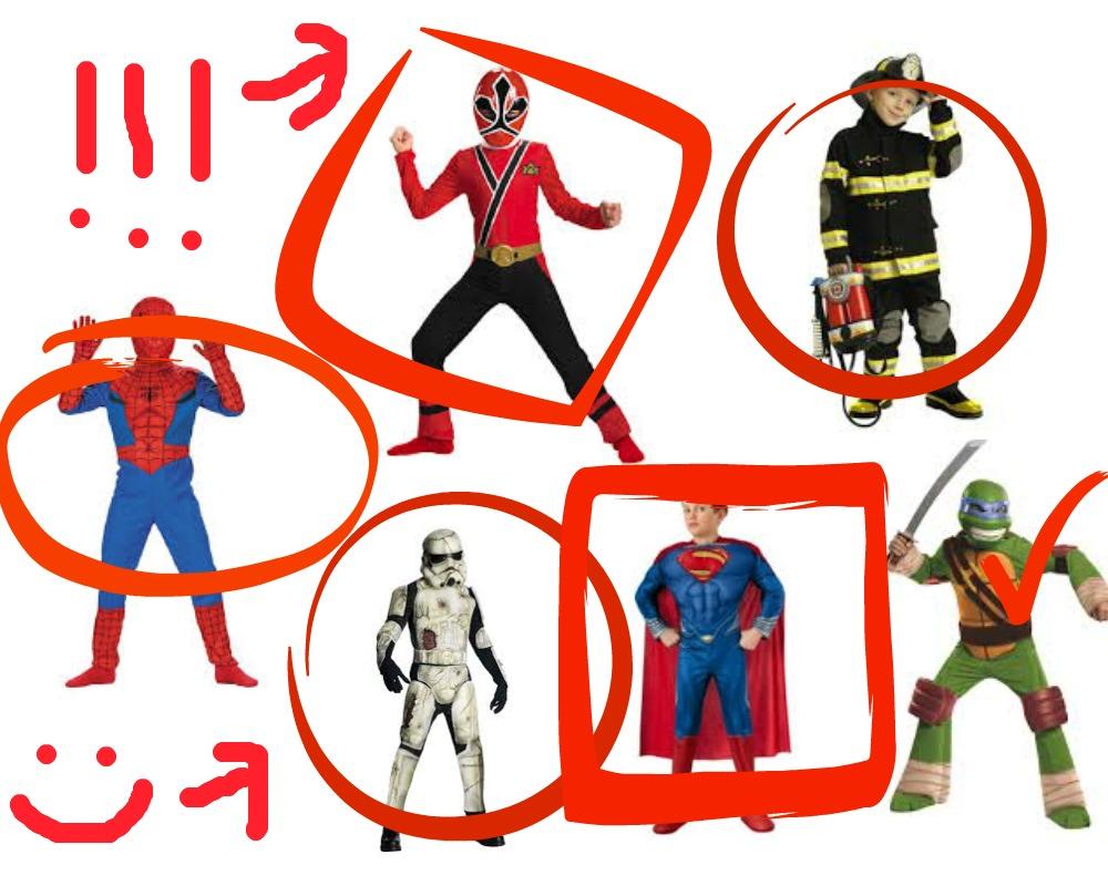choosing a halloween costume
