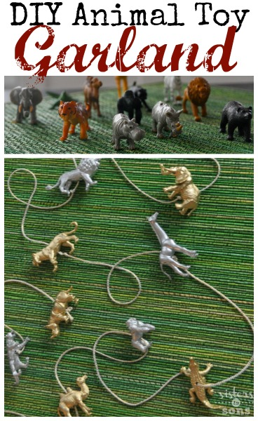 animal toy garland